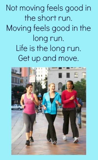 Exercise Encouragement - free printable - Life is the long run. Get up and move. Workout | Fitness | Tips | Routines | Healthy living | Printables