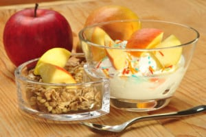 Cereal fruit yogurt