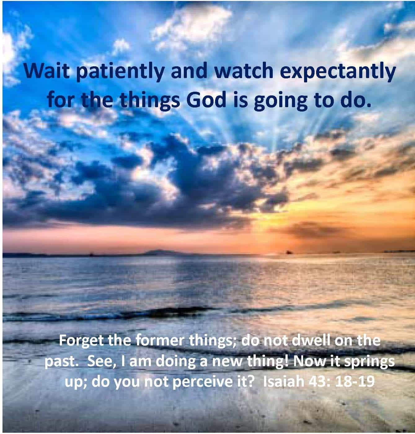 the patiently waiting patient essay Why you're not patient posted on may 4th, by doug ponder in god, life 2 comments the illusive virtue patiently waiting for the autumn and spring rains.