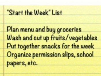 "Live Calmer with a ""Start the Week"" List"