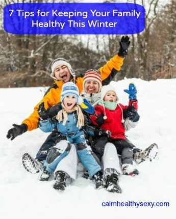 Healthy family in winter