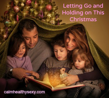 Christmas family with text