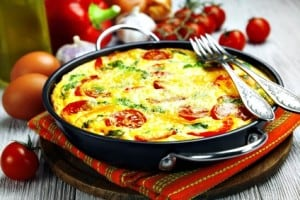 Oven Frittata with Vegetables