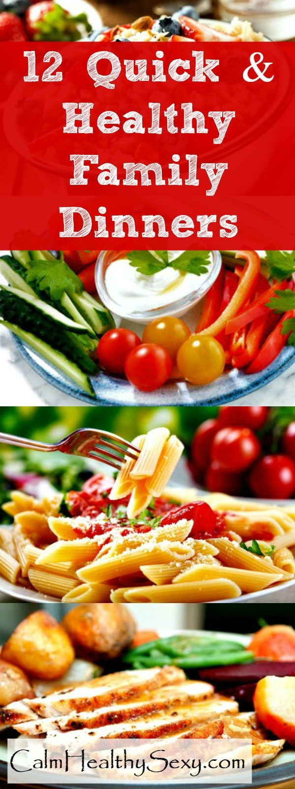 12 Quick and Healthy Family Dinners - These fast, easy, no-recipe meals will help you get a healthy dinner on the table, even on your busiest days. Dinner ideas | Healthy meals | Quick family meals