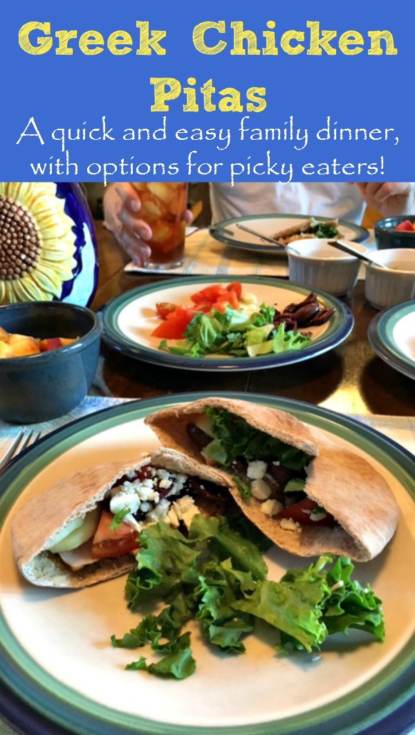 greek chicken pitas a quick and easy family dinner