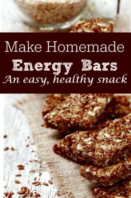 how to make energy bars
