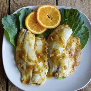 Tilapia orange sauce
