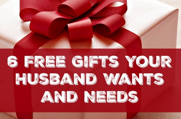 Here are 6 free gifts your husband wants - things you can give him that don't cost a dime, but will strengthen and add joy to your marriage. Marriage tips, advice and encouragement | Gift guide | Father's Day | Married life | Christian marriage