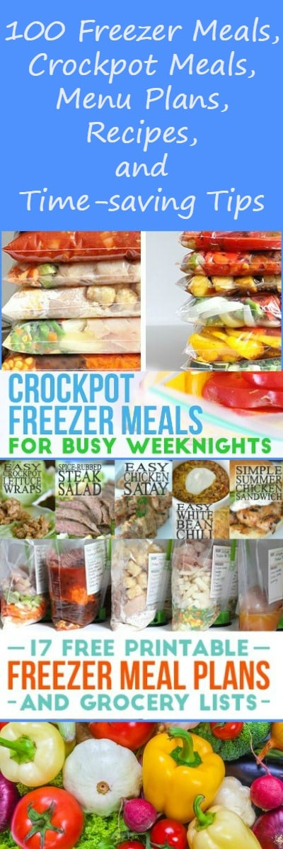 100+ free resources for make-ahead meals, freezer meals, menu plans, recipes, ebooks, organizers, templates, printables and more, from 17 top bloggers. Free resources   Crockpot   Organization   Get organized   Free stuff