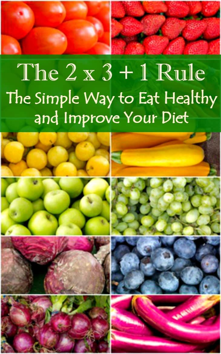 The 2 x 3 + 1 Rule - The simple way to eat healthy and improve your diet. Healthy eating | Healthy living | Diet advice