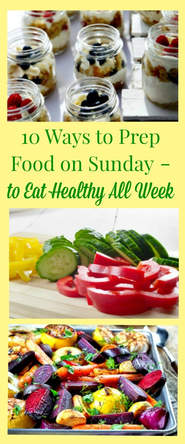 Weekly meal prep for busy women - Prep food on the weekend and eat healthy all week! Healthy meal prep ideas, tips and strategies to make your life a little easier. Healthy living | Sunday meal prep | Healthy eating | Healthy diet