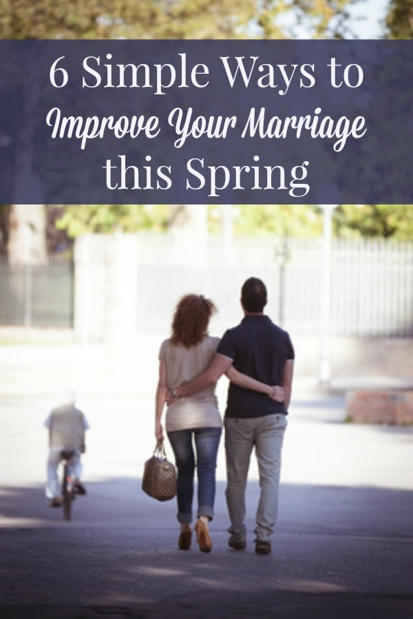 6 Simple Ways to Improve Your Marriage - Simple ideas for recharging and adding joy to your marriage. Marriage tips | Marriage advice