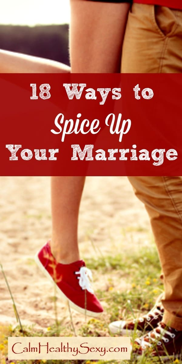 Here are 18 simple ways to spice up your marriage and add some fun, romance, pleasure and connection to your sex life. These are simple tips and ideas that every married couple can use. Marriage tips and advice | Encouragement | Sexy | Christian marriage
