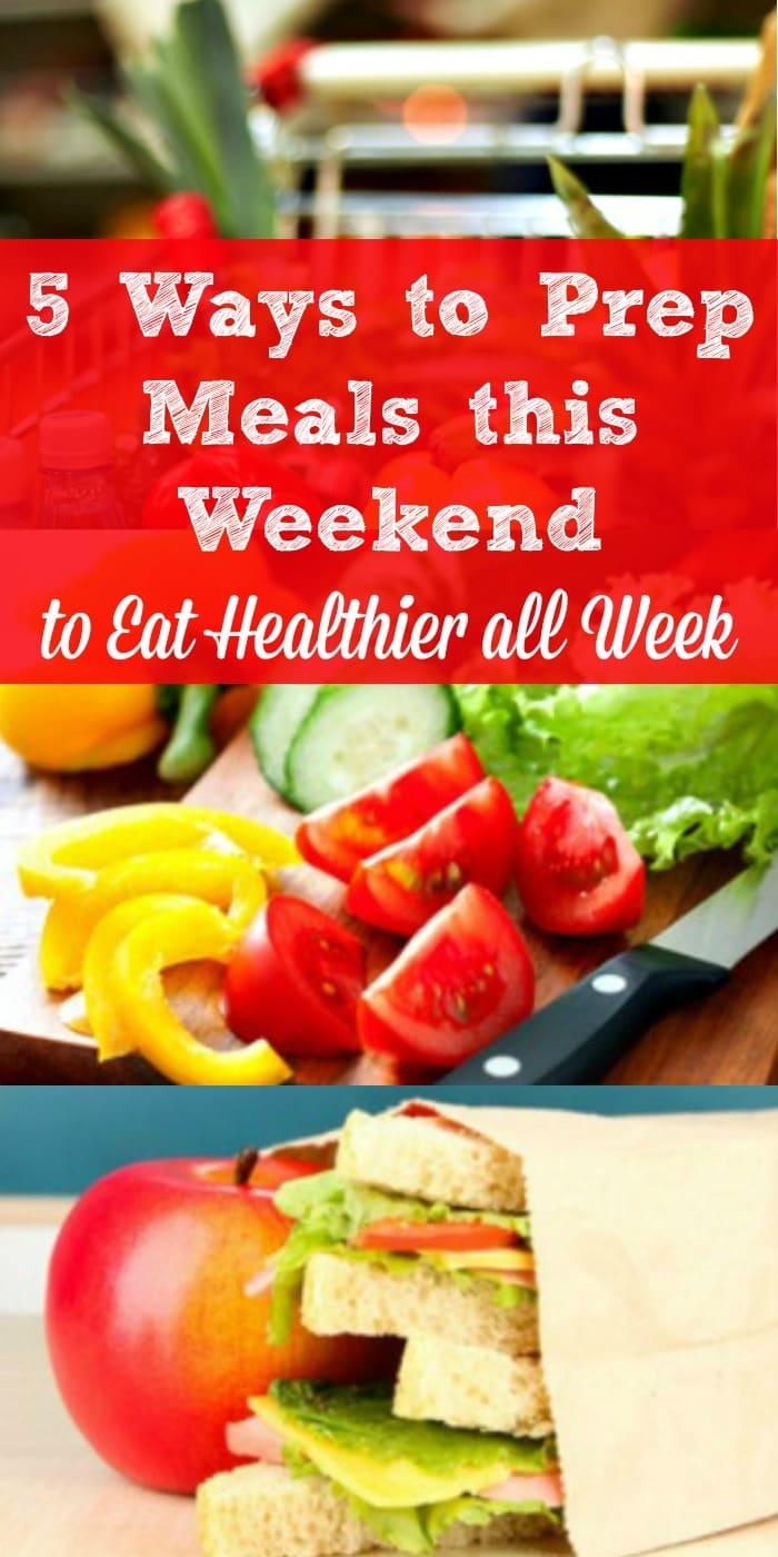How to Prep Meals and Snacks this Weekend - to Eat Healthier All Week - Here are 5 simple things you can do this weekend to feed your family healthy meals and snacks next week, while saving time and reducing stress. Family dinner | School lunch | Healthy snacks | Meal prep tips Healthy family meals