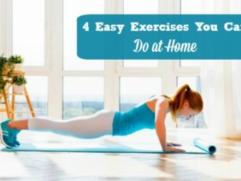 Here are 4 easy exercises busy women can do at home or just about anywhere, when they need to exercise but don't have time for a long walk or full workout. Fitness | Exercise tips | Exercise routines | Healthy living | Workout at home