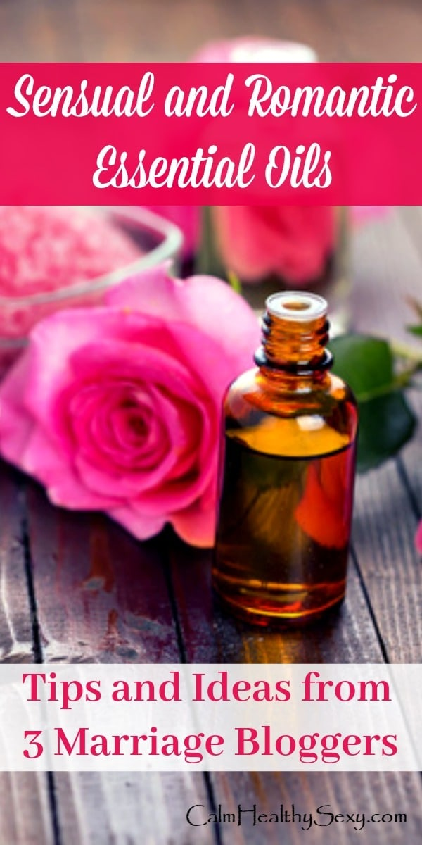 Essential Oils for Love and Romance - Try these romantic essential oils for boosting sex and intimacy in your marriage. Includes blends to diffuse, apply to your skin, or use as a massage oil. If your libido is low, using essential oils can be a fun way to give it a boost and spice up your marriage. Essential oil blends | Romance | Aromatherapy | Ylang ylang | Clary sage #essentialoils #essentialoilblends #romantic #romance #marriage