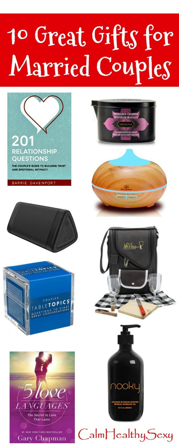 10 Great Gift Ideas for Married Couples - Fun and Romantic Gifts