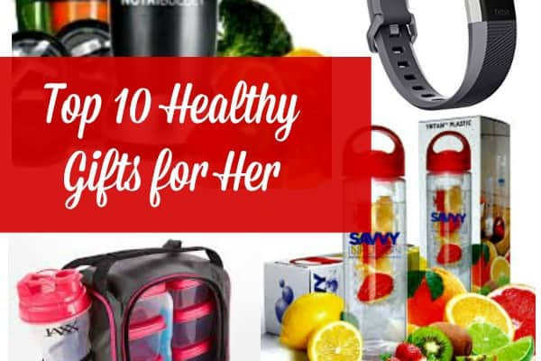 Here are 10 healthy gifts for her - for the women in your life who want to get in shape, eat healthy, reduce stress and live a healthier life - Gift guide | Christmas | Holidays #christmas #christmasgiftguide #christmasgiftsideas #healthygifts
