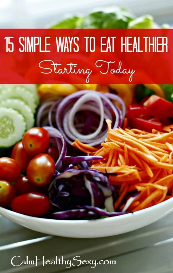 Healthy salad - 15 simple ways to eat healthier