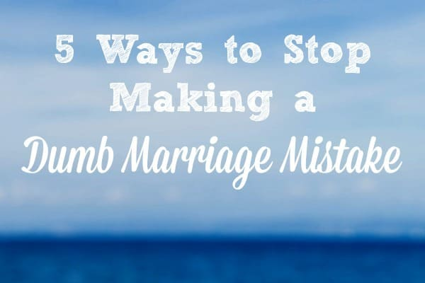 We all make mistakes in our marriages, but I want to help  you avoid this dumb marriage mistake I made for years. (Hint - it has to do with sex!) Here are 5 ways to stop making it - and to strengthen your marriage instead. Marriage tips and advice | Couples | Sex and intimacy #marriage #marriagetips #marriedlife