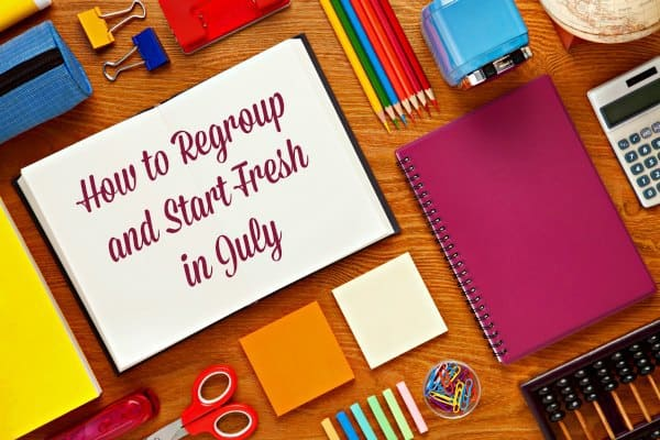 Desk and office supplies - how to regroup in July