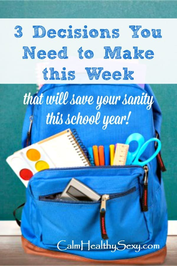 School back pack - 3 decisions every parent needs to make this school year