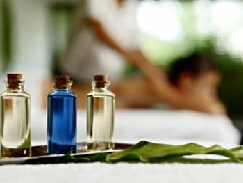 Sensual massage with essential oils