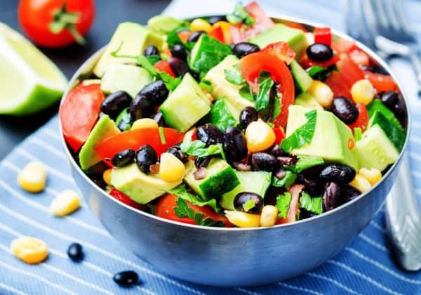 Zesty bean salad